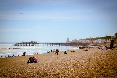 Free stock photo of england, pebble beach, pier, seascape