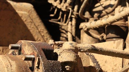 Free stock photo of brown, iron, metal, tractor
