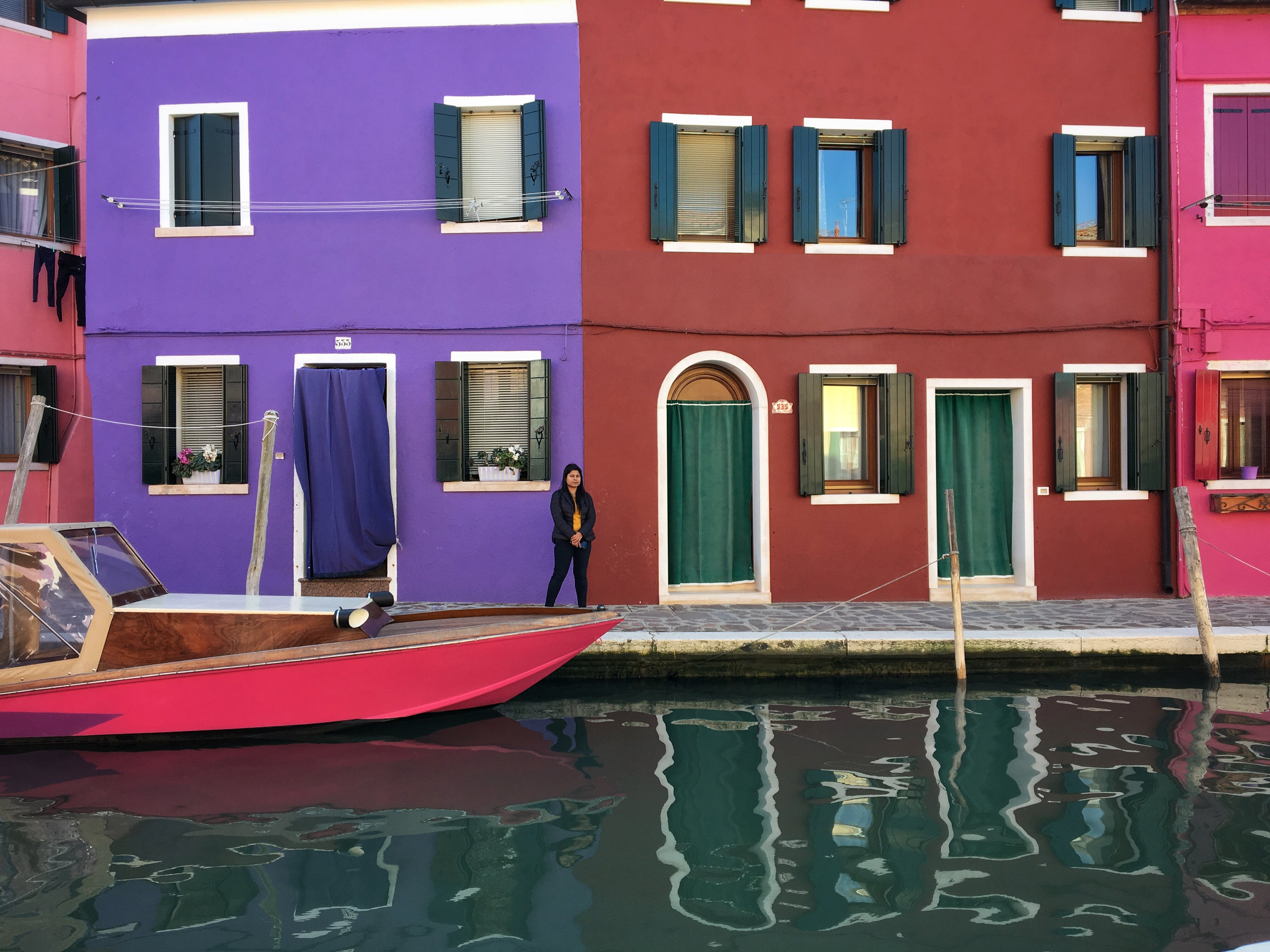 Free stock photo of burano, canal, colorful houses, house
