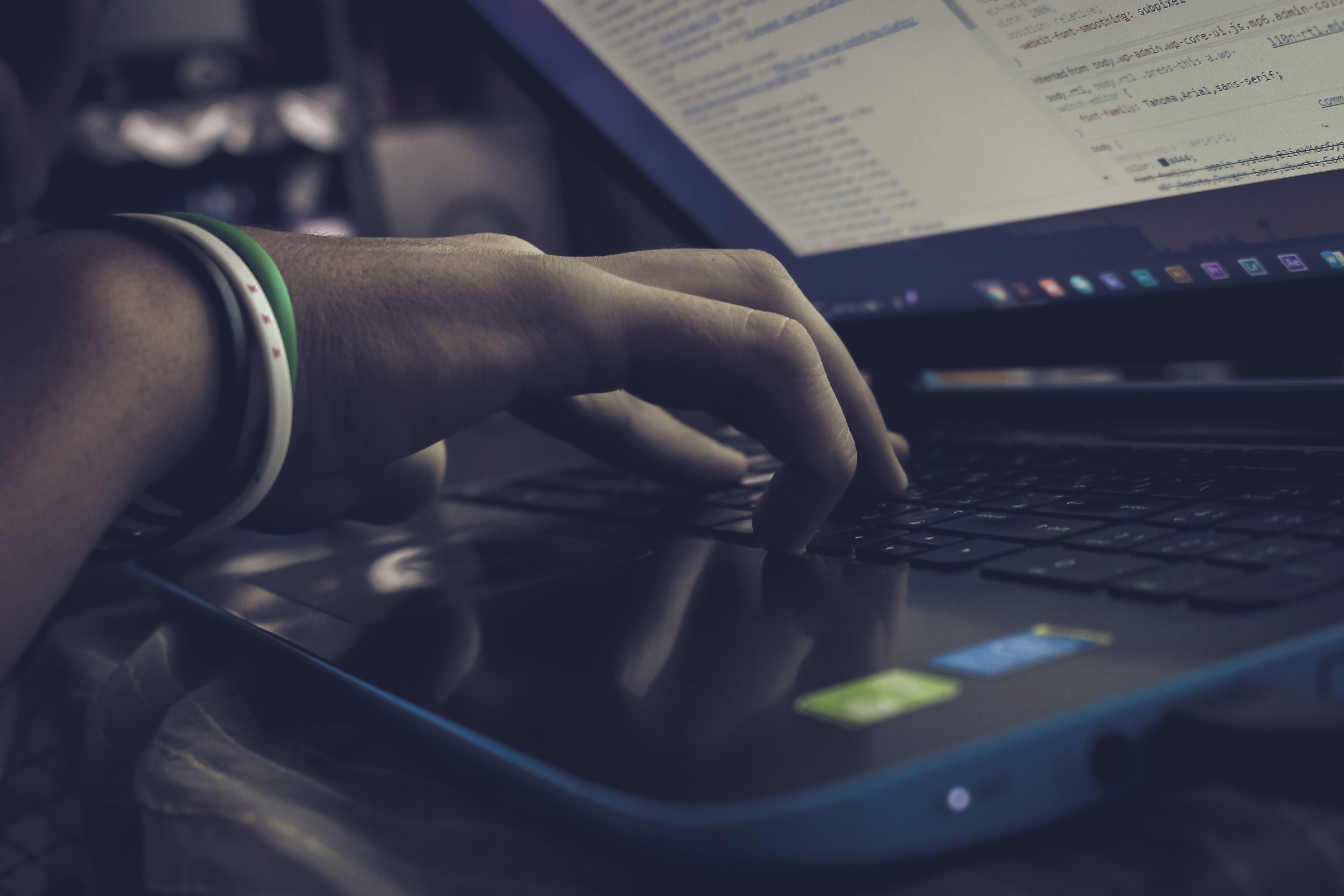 Free stock photo of man, laptop, computer, work