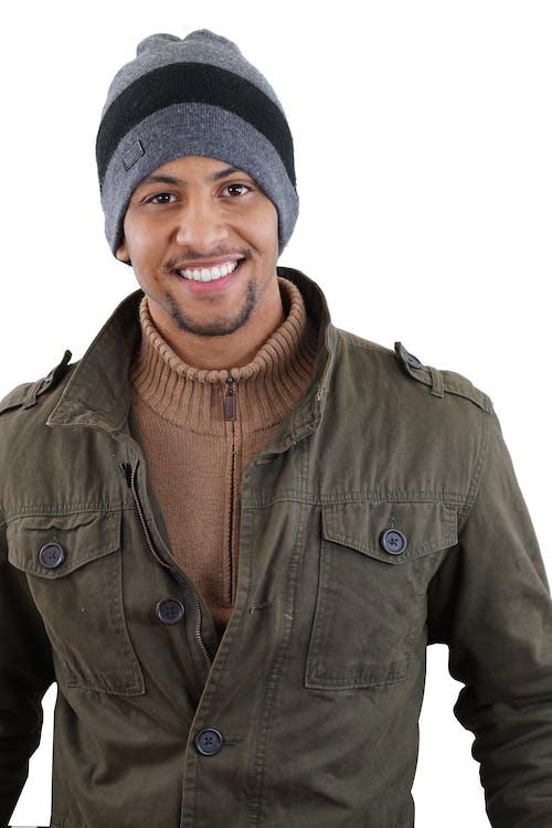 Kostnadsfri bild av afroamerikaner, brun hud, falla kläder, falljacka