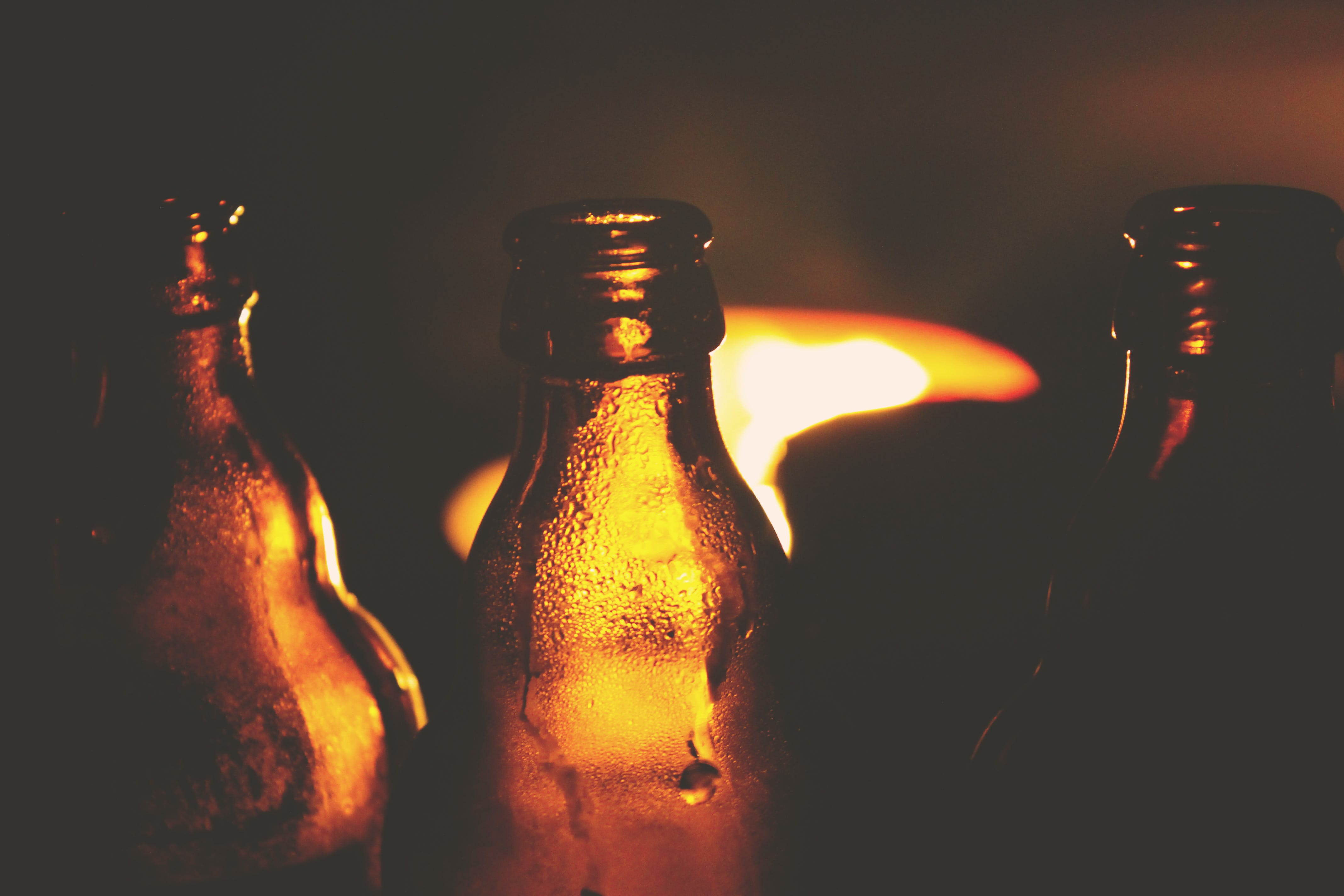 Kostenloses Stock Foto zu bier, flasche, grill, nacht