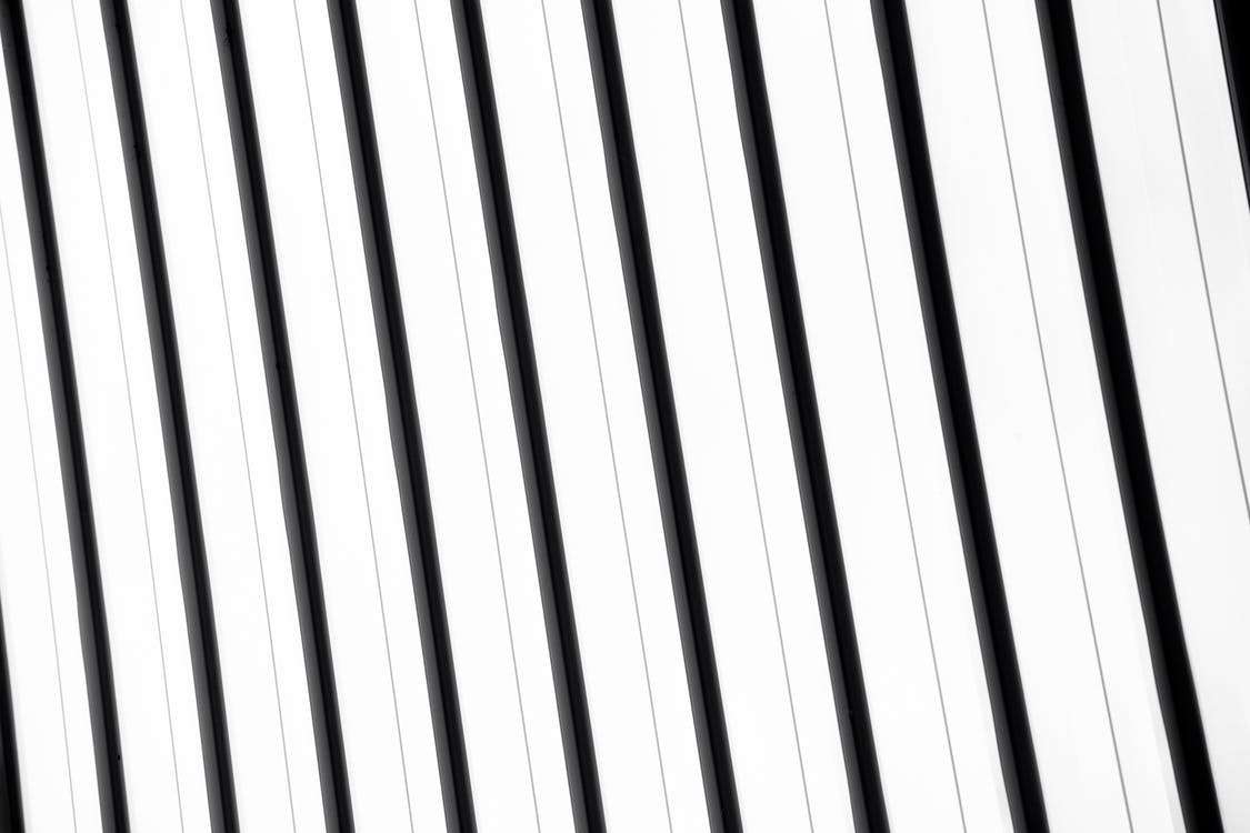 White and Black Striped