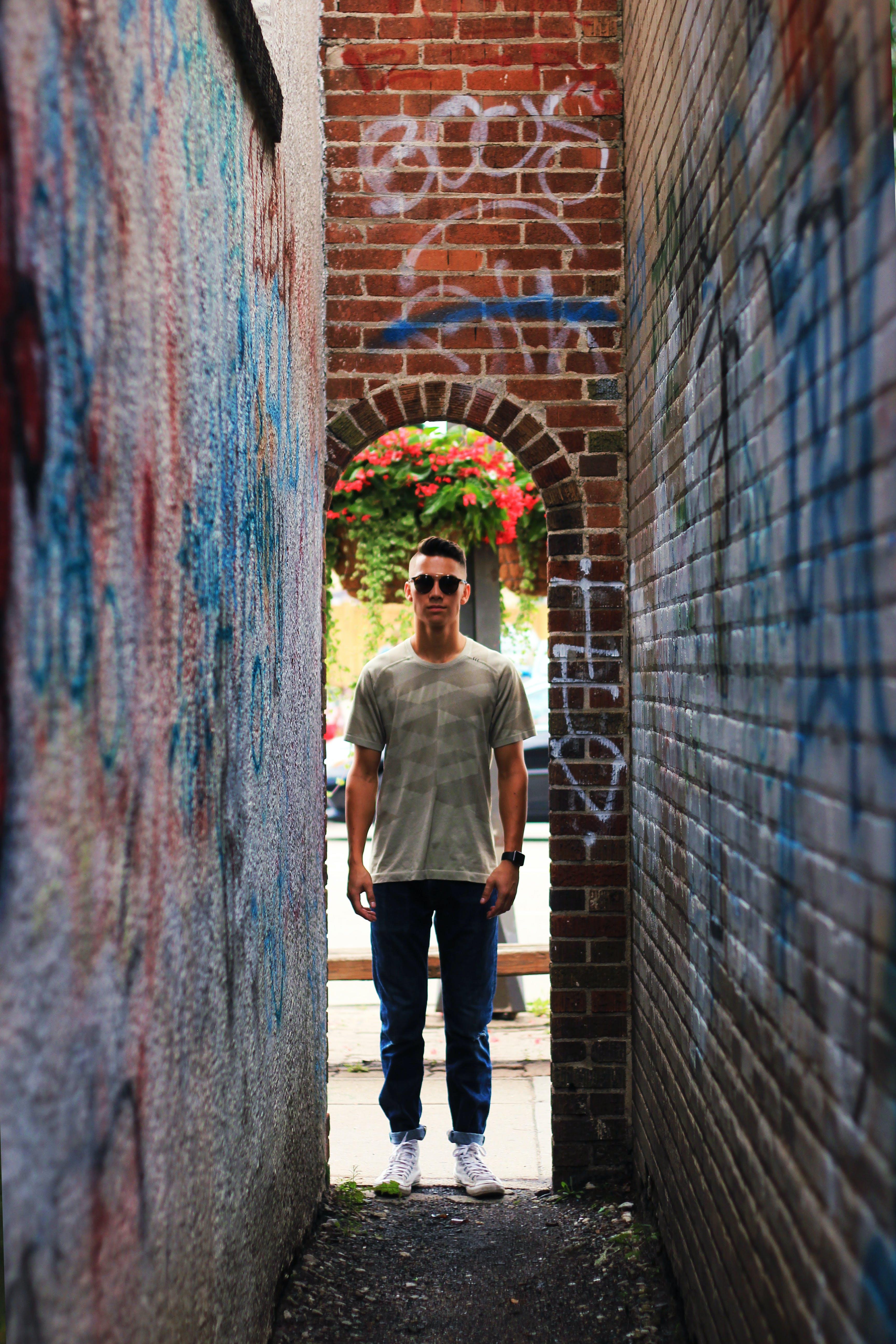 Základová fotografie zdarma na téma graffiti, oblouk, pouliční umění, rámeček