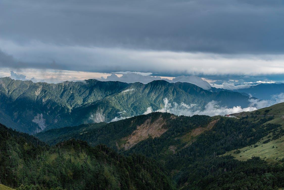 felhők, festői, hegy
