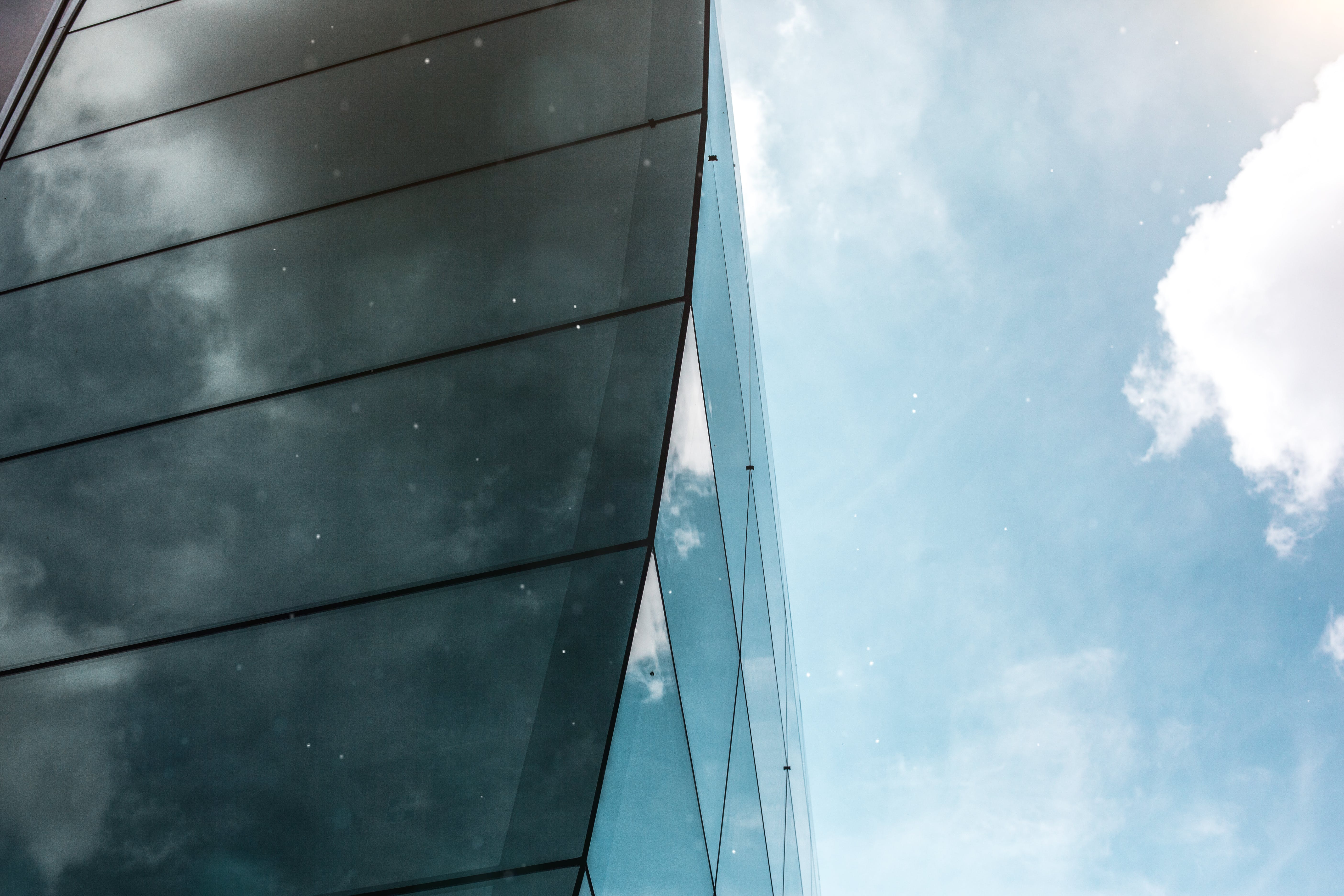 Worm's-view Photo of Curtain Wall Building