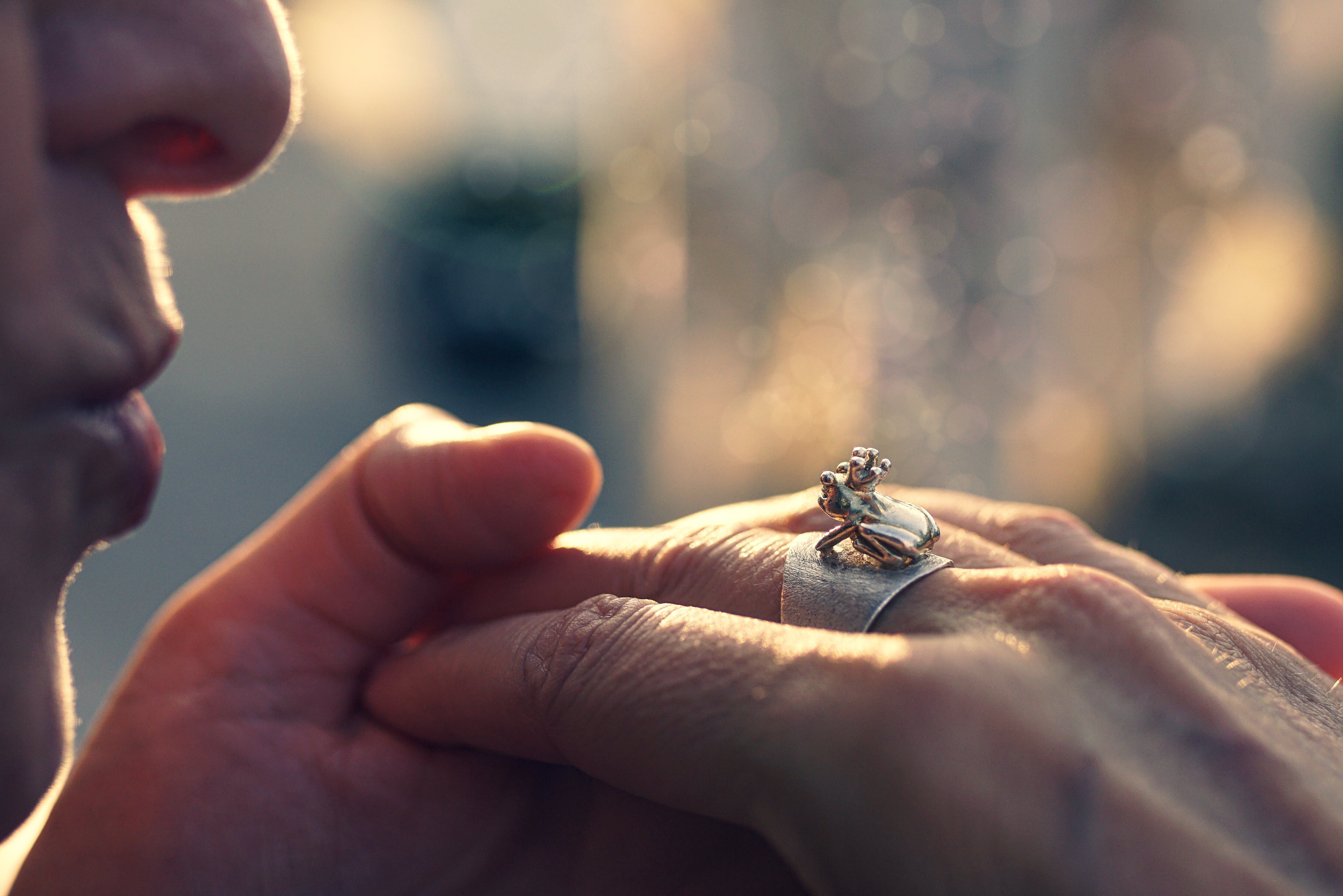 Close-Up Photography of Hands With Ring