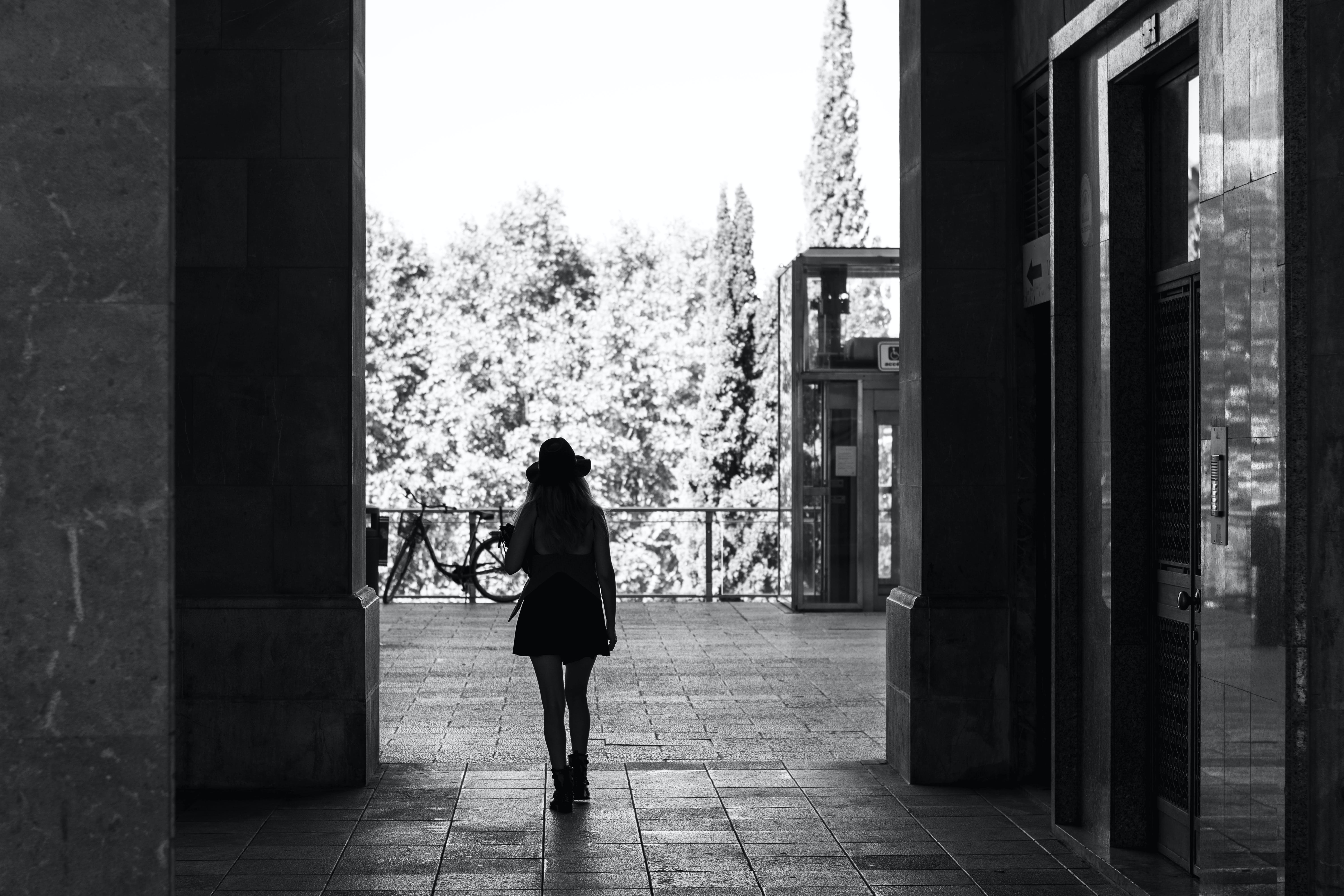 Free stock photo of black and white, street photography