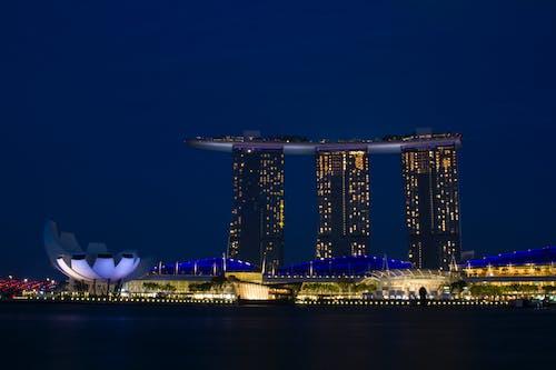 Kostnadsfri bild av Marina Bay Sands, nattstad, singapore