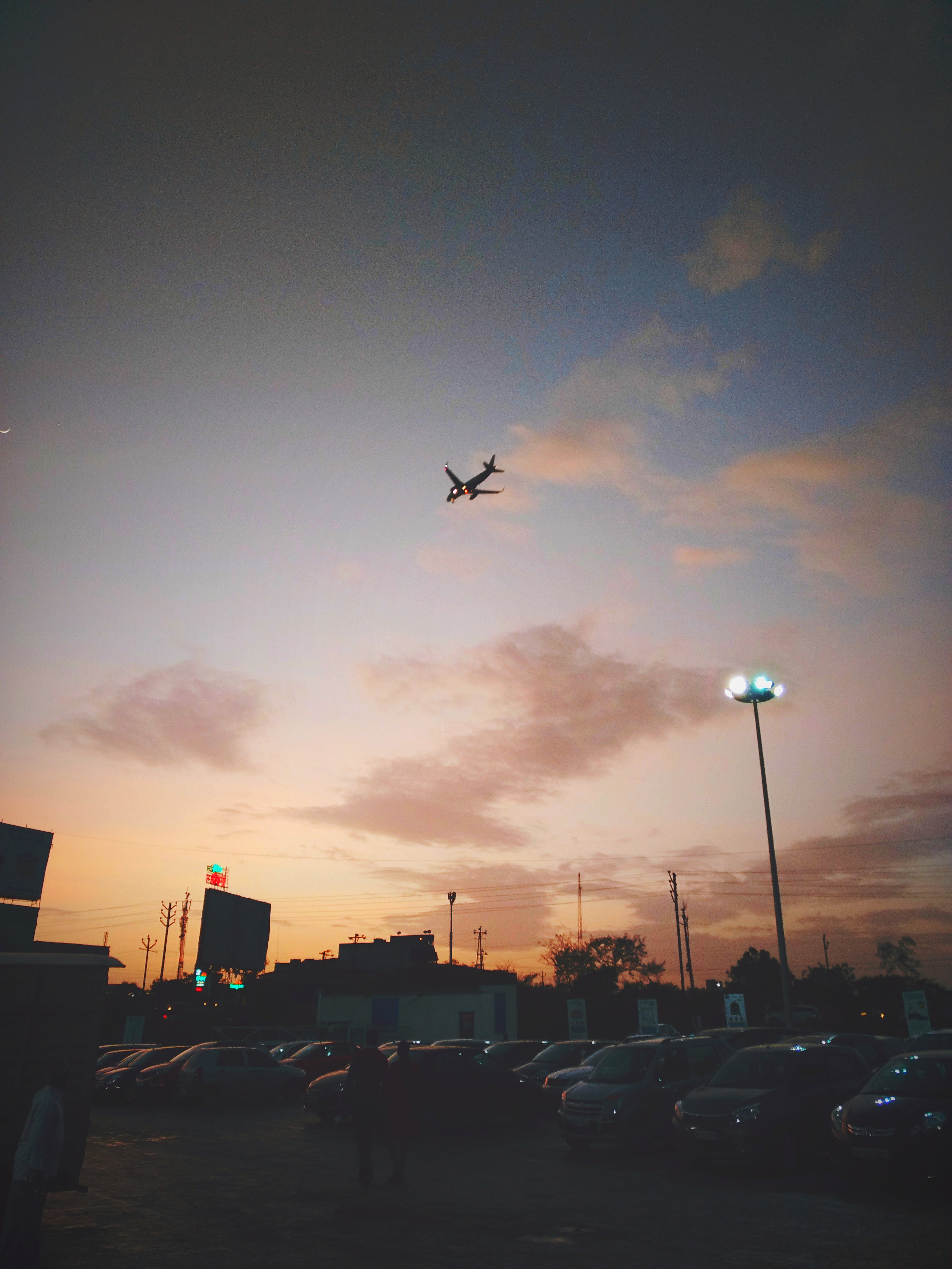 above, airplanes, airport