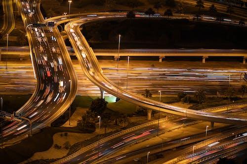 Безкоштовне стокове фото на тему «автомобілі, довга експозиція, дорога, Дубай»