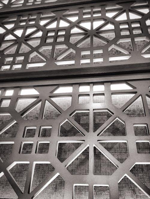 Základová fotografie zdarma na téma architektura, černobílý, struktura, umění