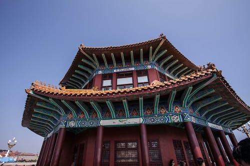Foto stok gratis Arsitektur Asia, Asia, berwarna, biru
