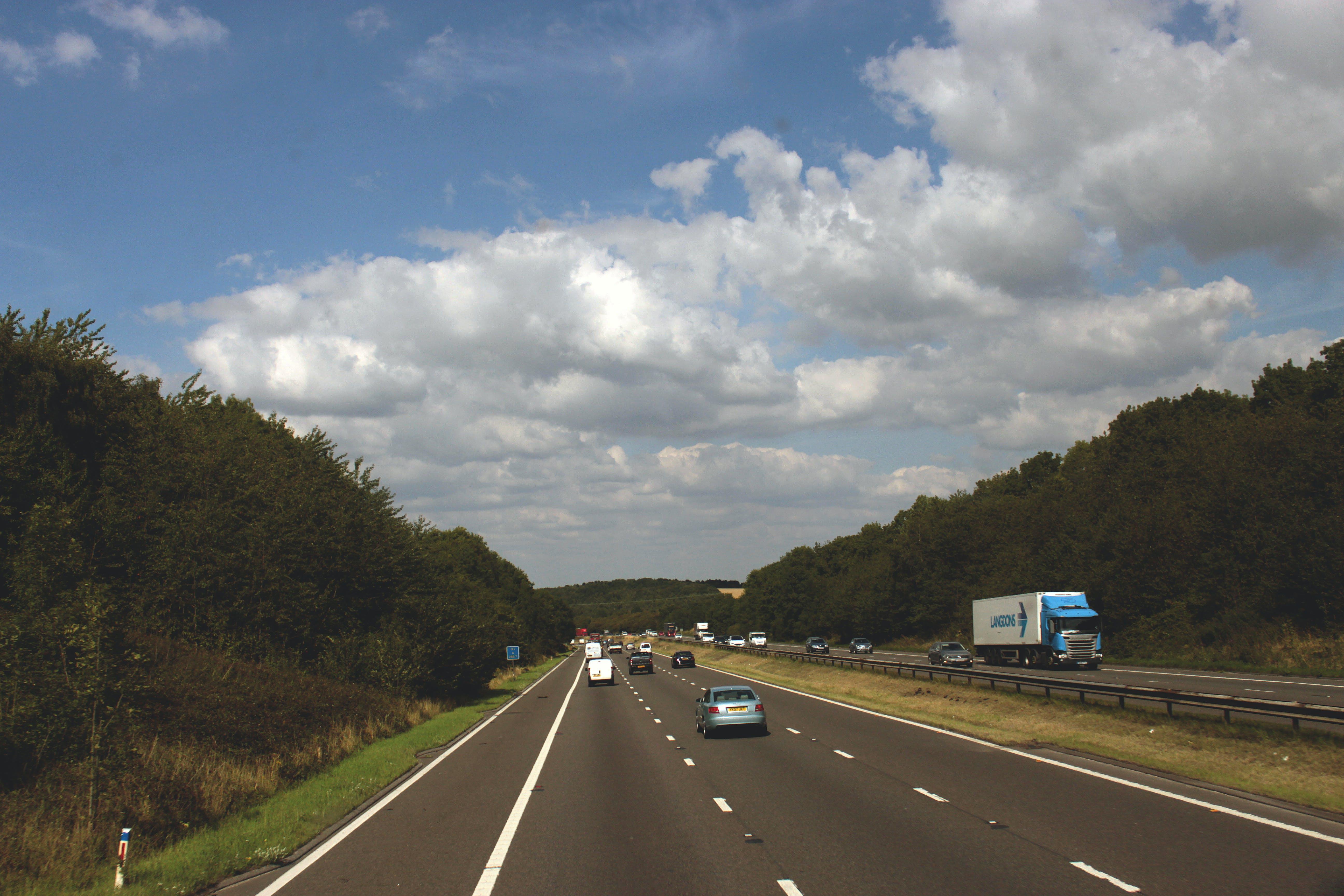 countryside, highway, motorway