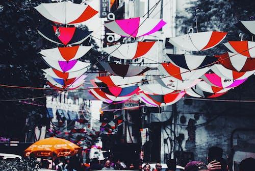 Fotobanka sbezplatnými fotkami na tému dáždnik, Dillí, farba, farebný