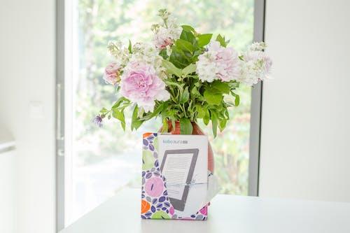 Free stock photo of digital, ebook, ereader, flowers