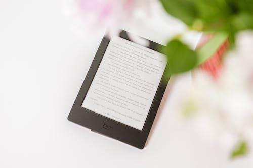 Free stock photo of digital, digital device, ebook, flower