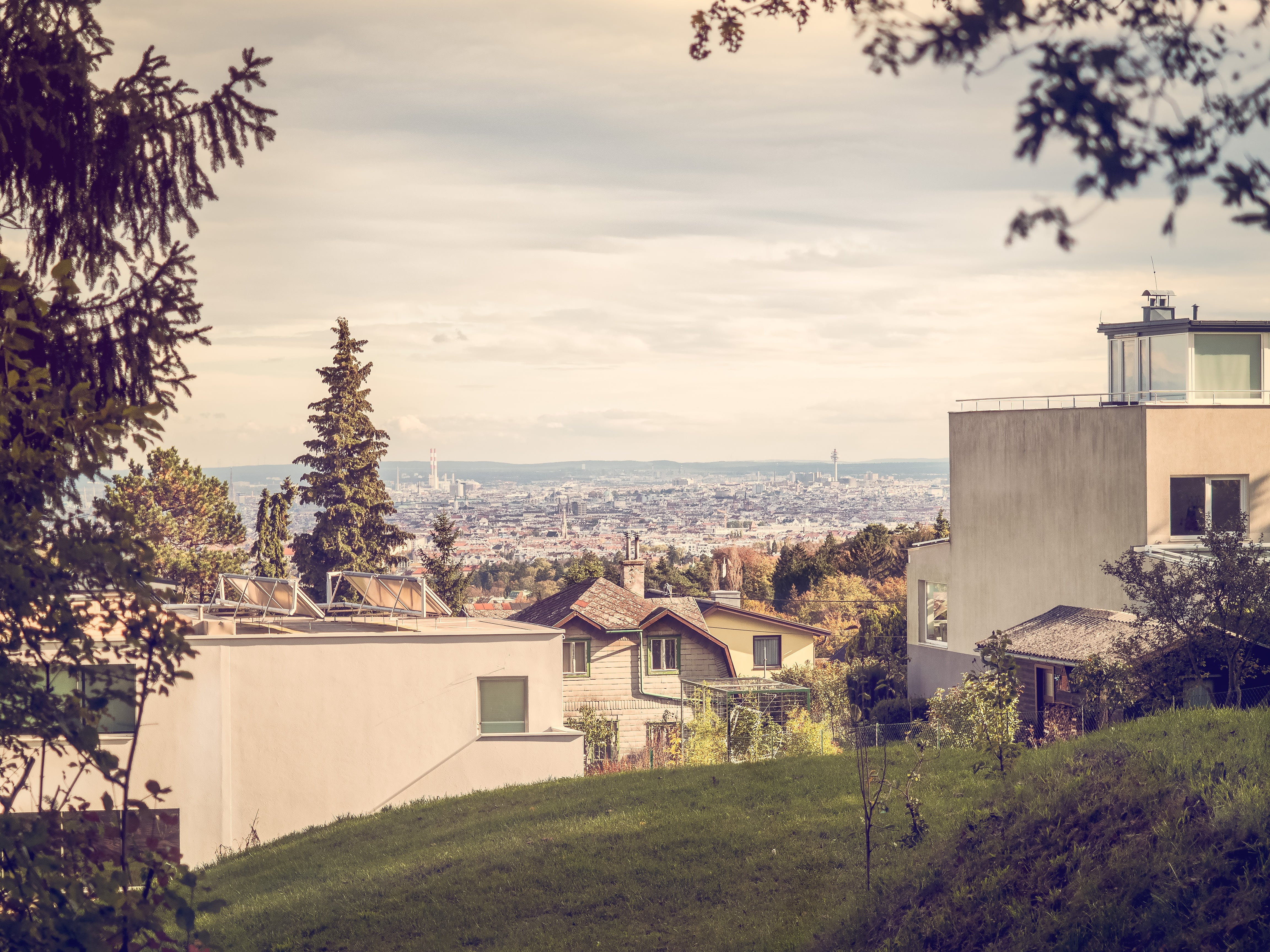 Free stock photo of city, houses, garden, architecture