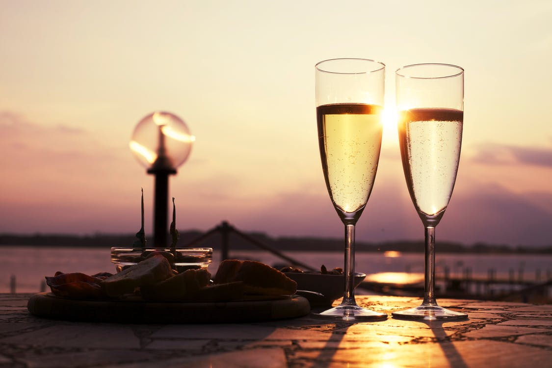 Free stock photo of champagne, date, drink