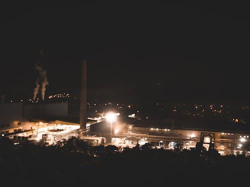 Foto stok gratis atap, baja, cahaya, kilang