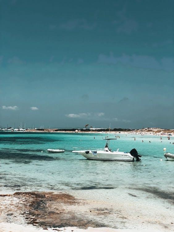 csónakok, élvezet, homok