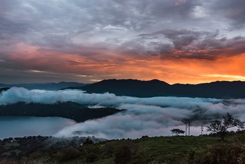 Landscape Photography of Foggy Mountain