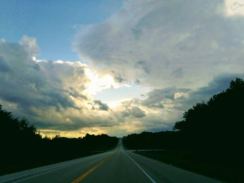 Free stock photo of clouds, cloudy skies, roads