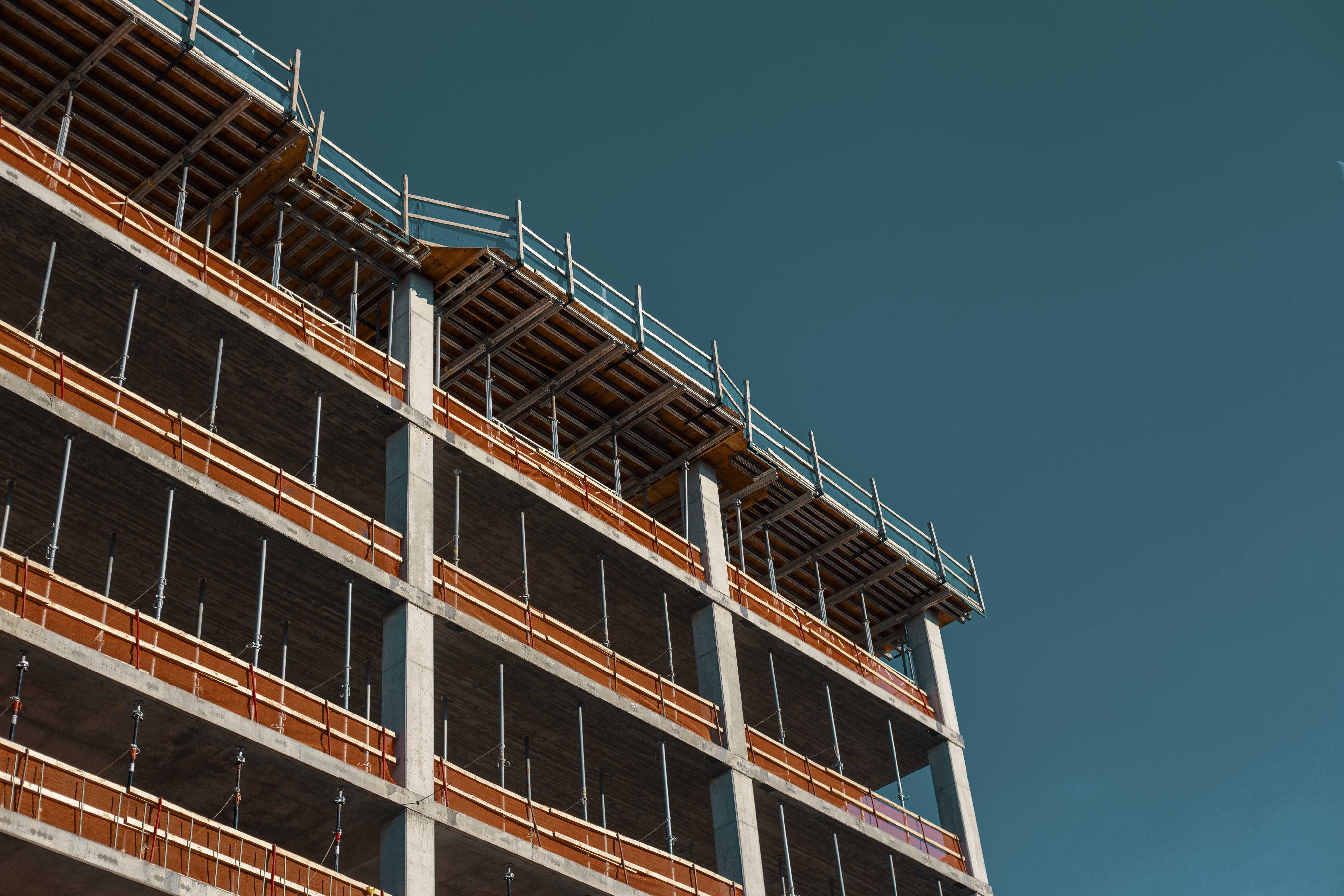 Gray and Orange Concrete Building