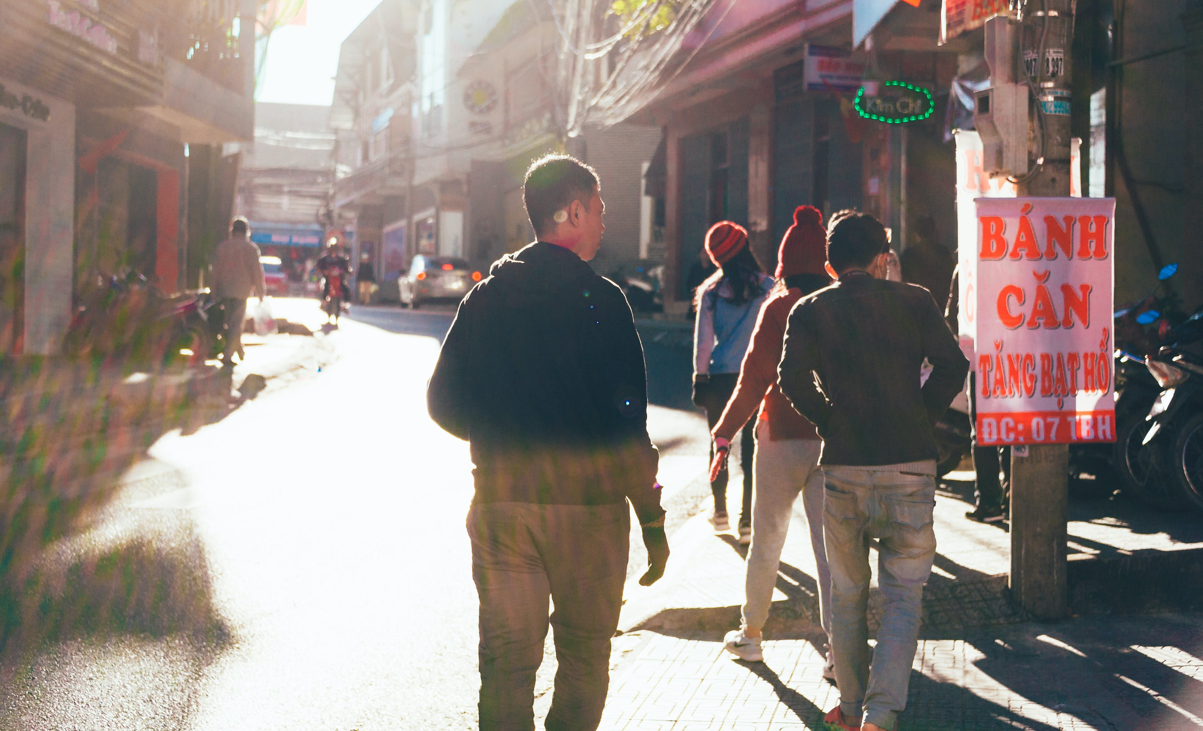 People Walking on Street
