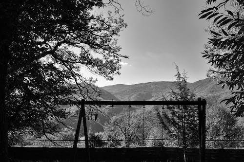Free stock photo of black and white, greece, mountain