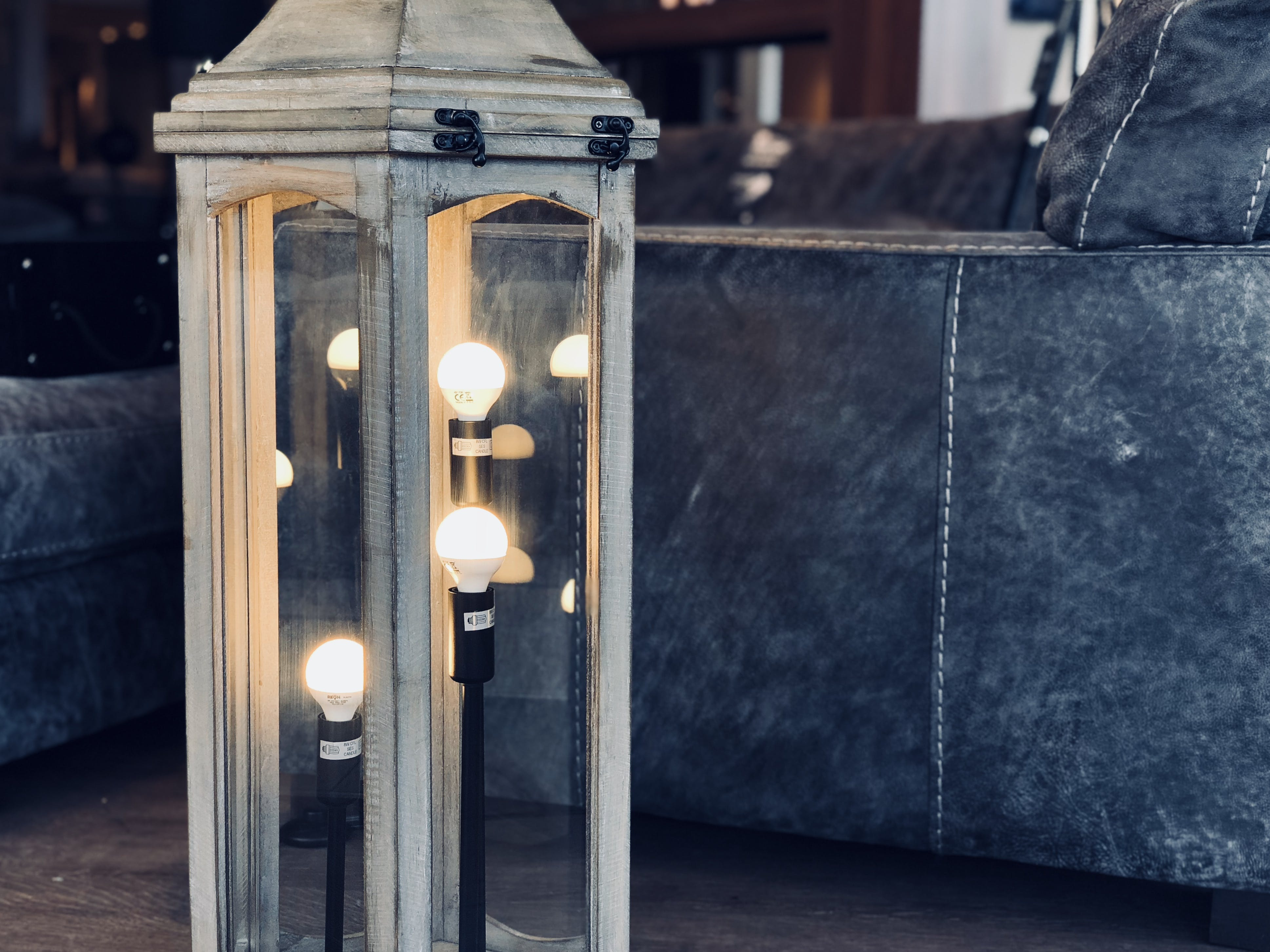 Free stock photo of lamp, reflections, chair, lantern