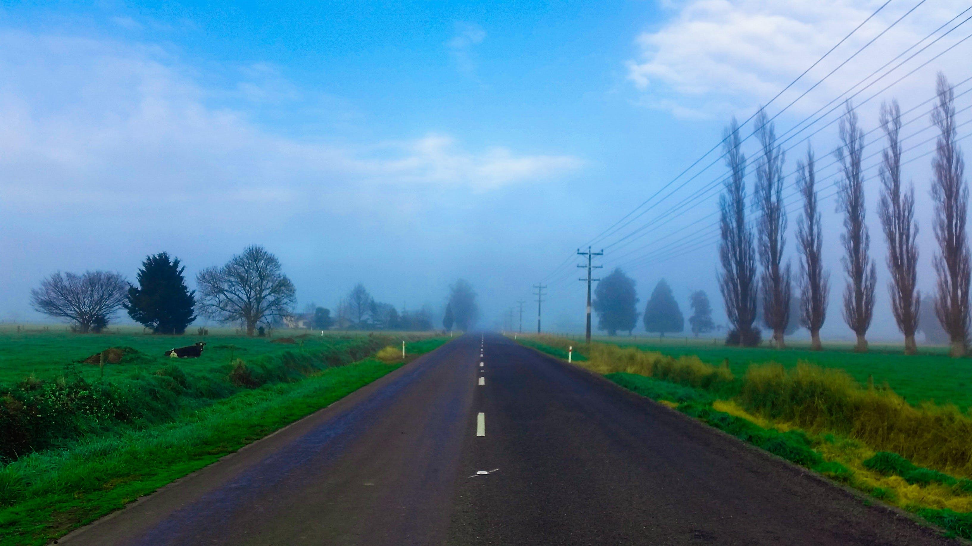 Free stock photo of alone, blue sky, cloudy, empty street