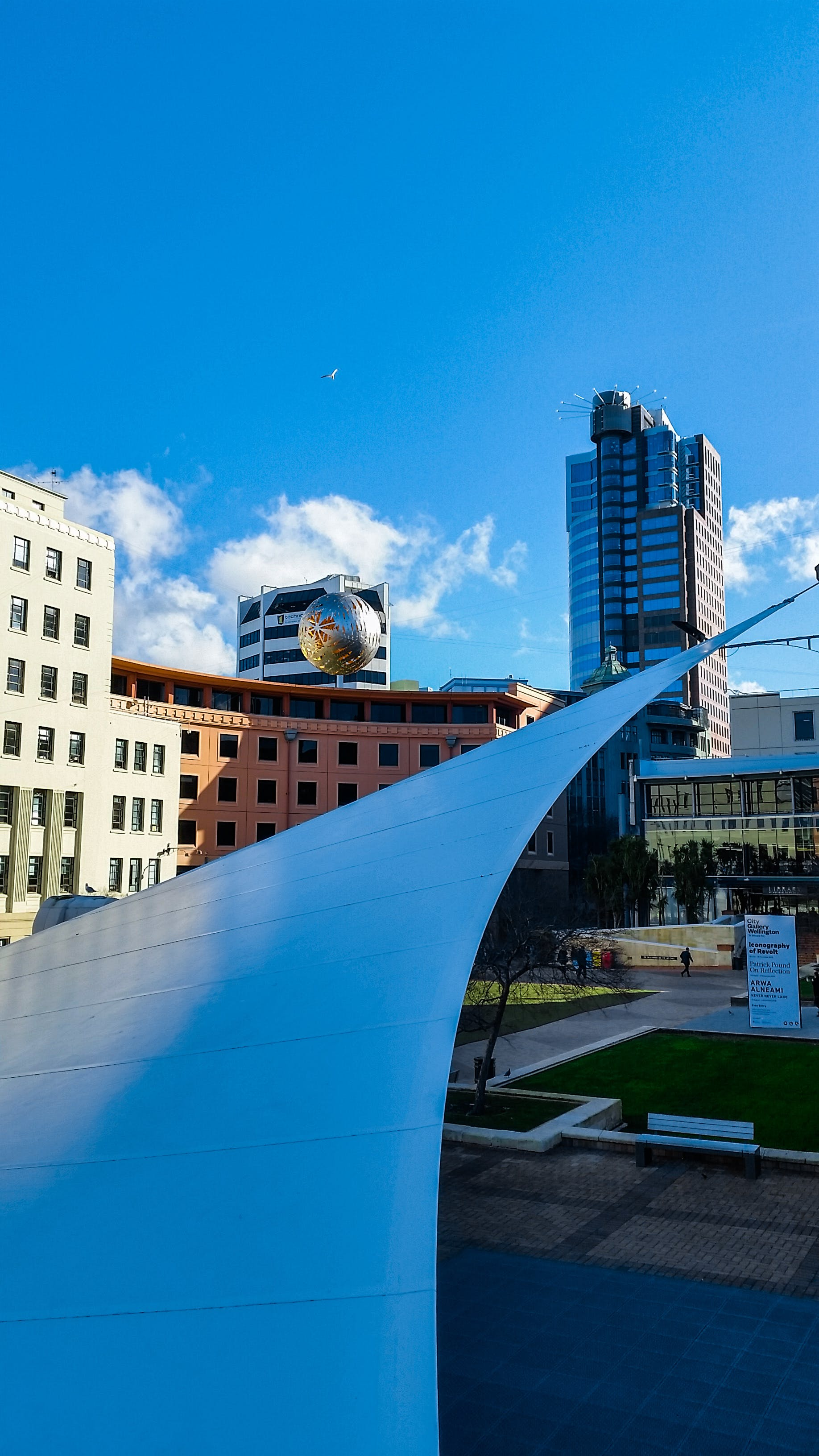 Free stock photo of architecture, blue sky, city park, steel