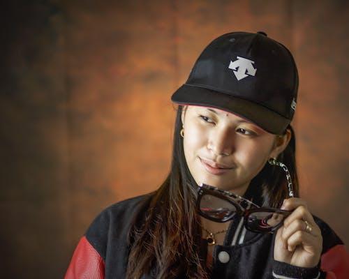 소녀, 숙녀, 아시아 여성, 안경의 무료 스톡 사진