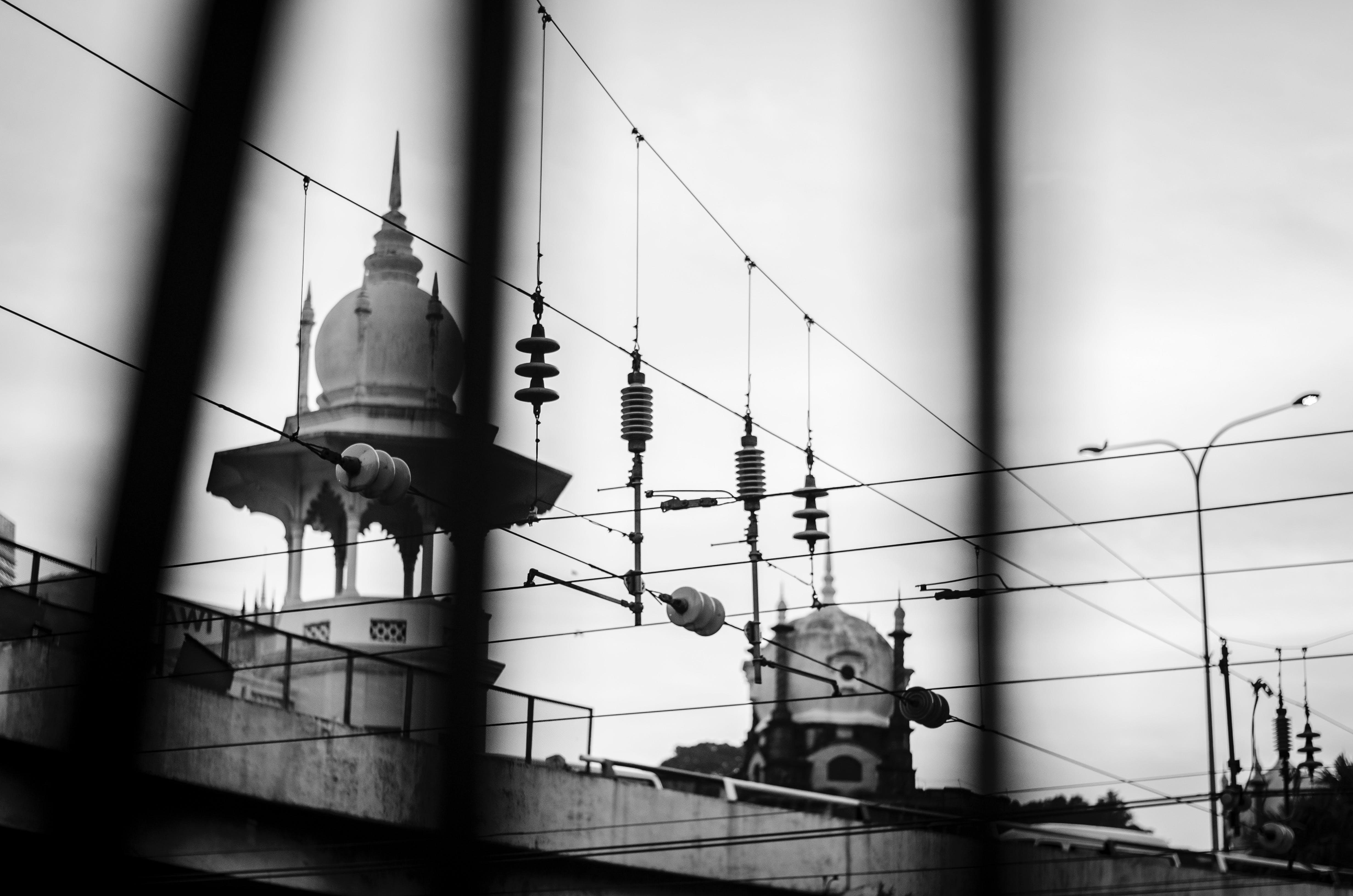 Free stock photo of black and white, bokeh, kuala lumpur, kuala lumpur train station