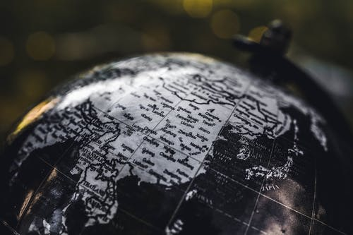 Black and Gray Desk Globe