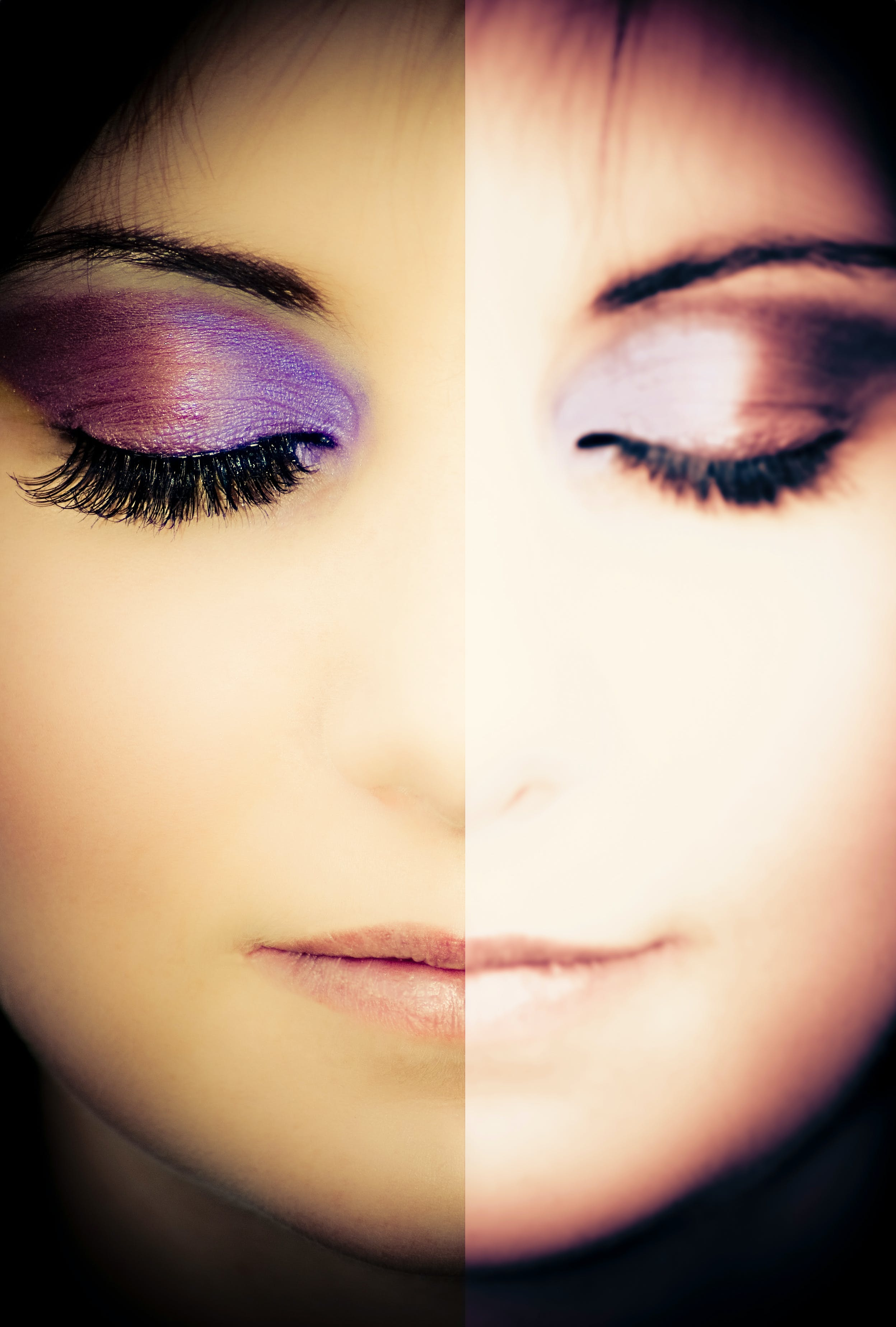 closeup, makeup, woman