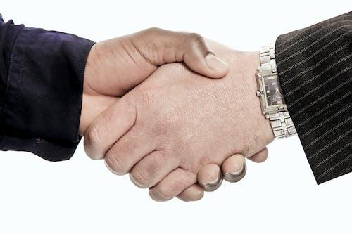 Free stock photo of bee, hand shake, hands