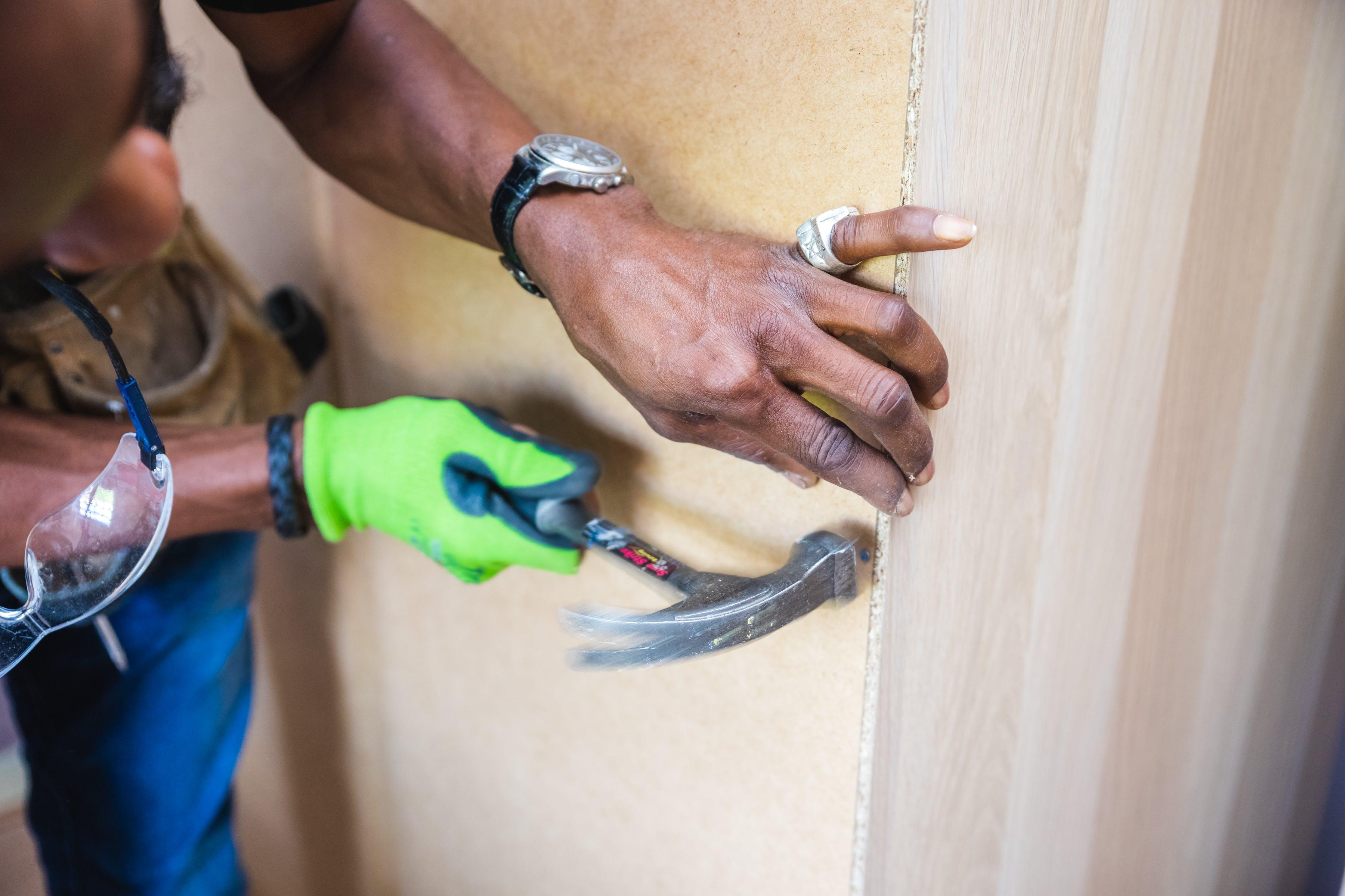 Free stock photo of assemble, furniture assembly, hammer, handyman