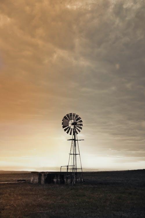 Kostnadsfri bild av pump, pumps, solnedgång, väderkvarn