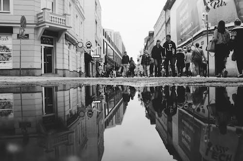 insanlar, kalabalık, Kent, siyah ve beyaz içeren Ücretsiz stok fotoğraf