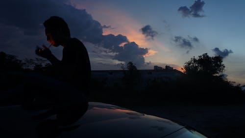 Immagine gratuita di #cigarrette #sky, #luce naturale, #notte, #outdoorchallenge