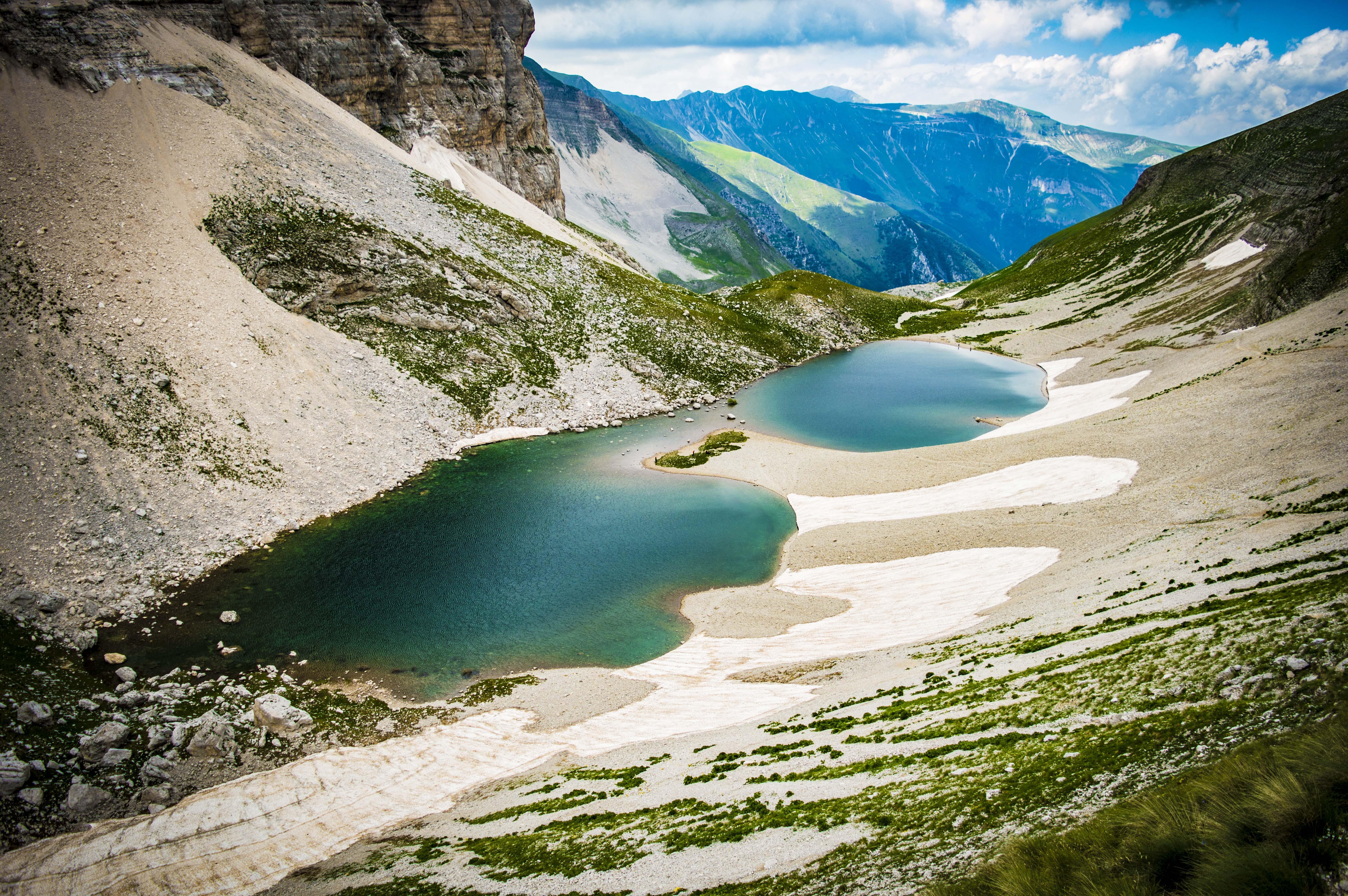 Lake Between Green Mountains