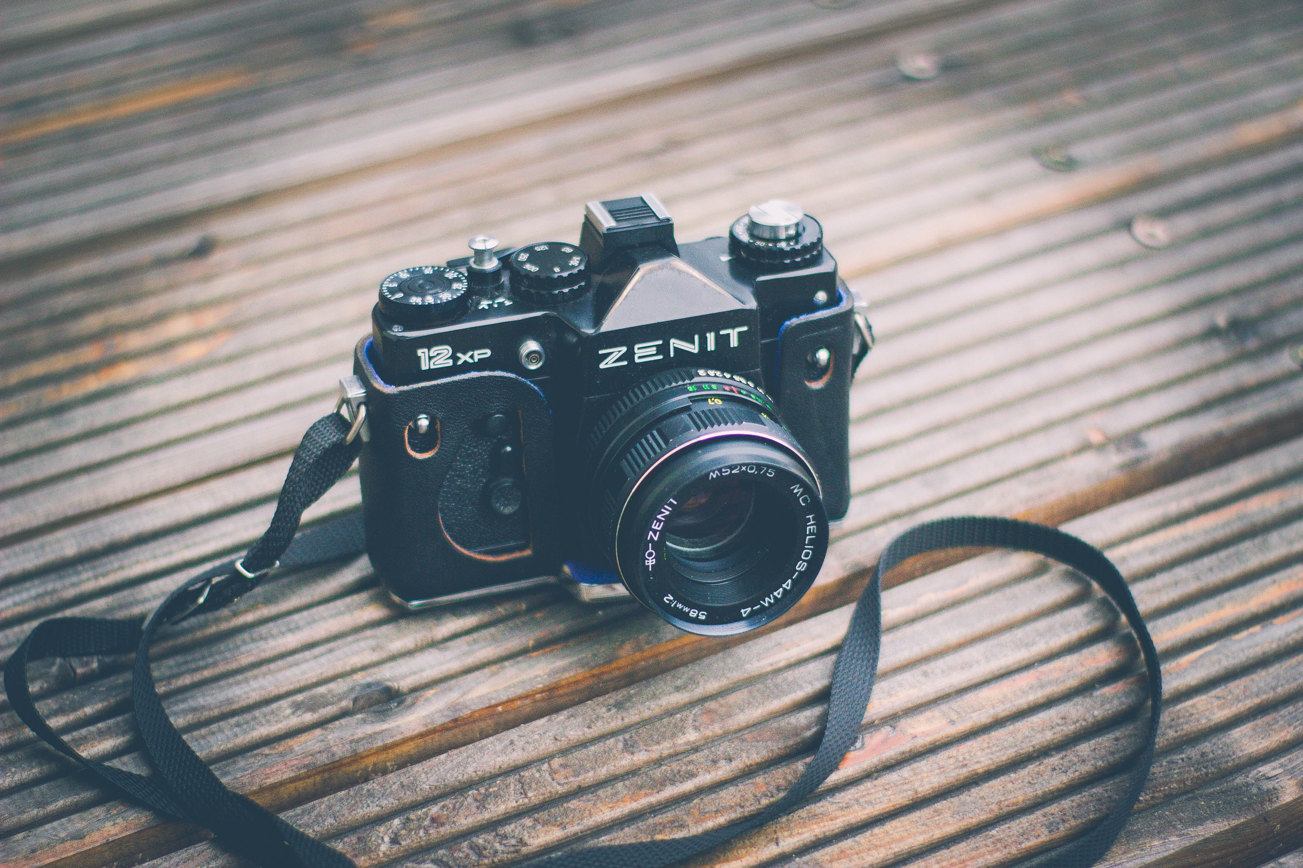 Depth of Field Photograph of Black Zenit Milc-camera