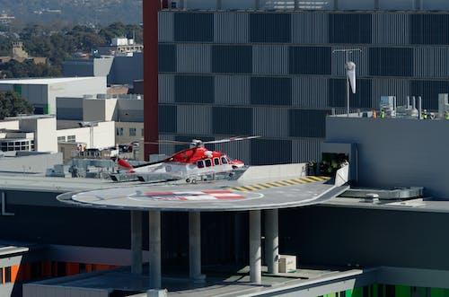 Free stock photo of ambulance helicopter, hospital, hospital helicopter