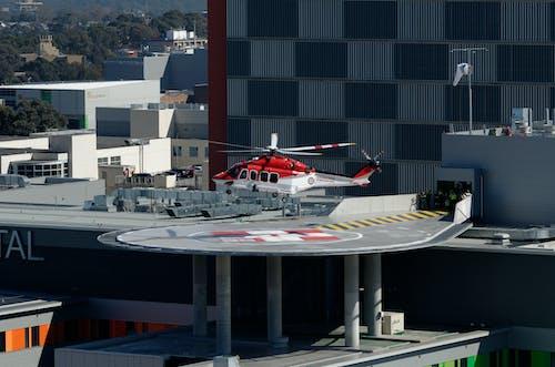 Free stock photo of ambulance helicopter, hospital