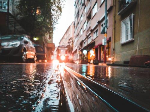 Бесплатное стоковое фото с автомобили, архитектура, асфальт, бедствие
