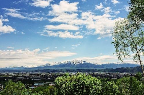 Základová fotografie zdarma na téma hokkaido, hora, modrá obloha, mrak