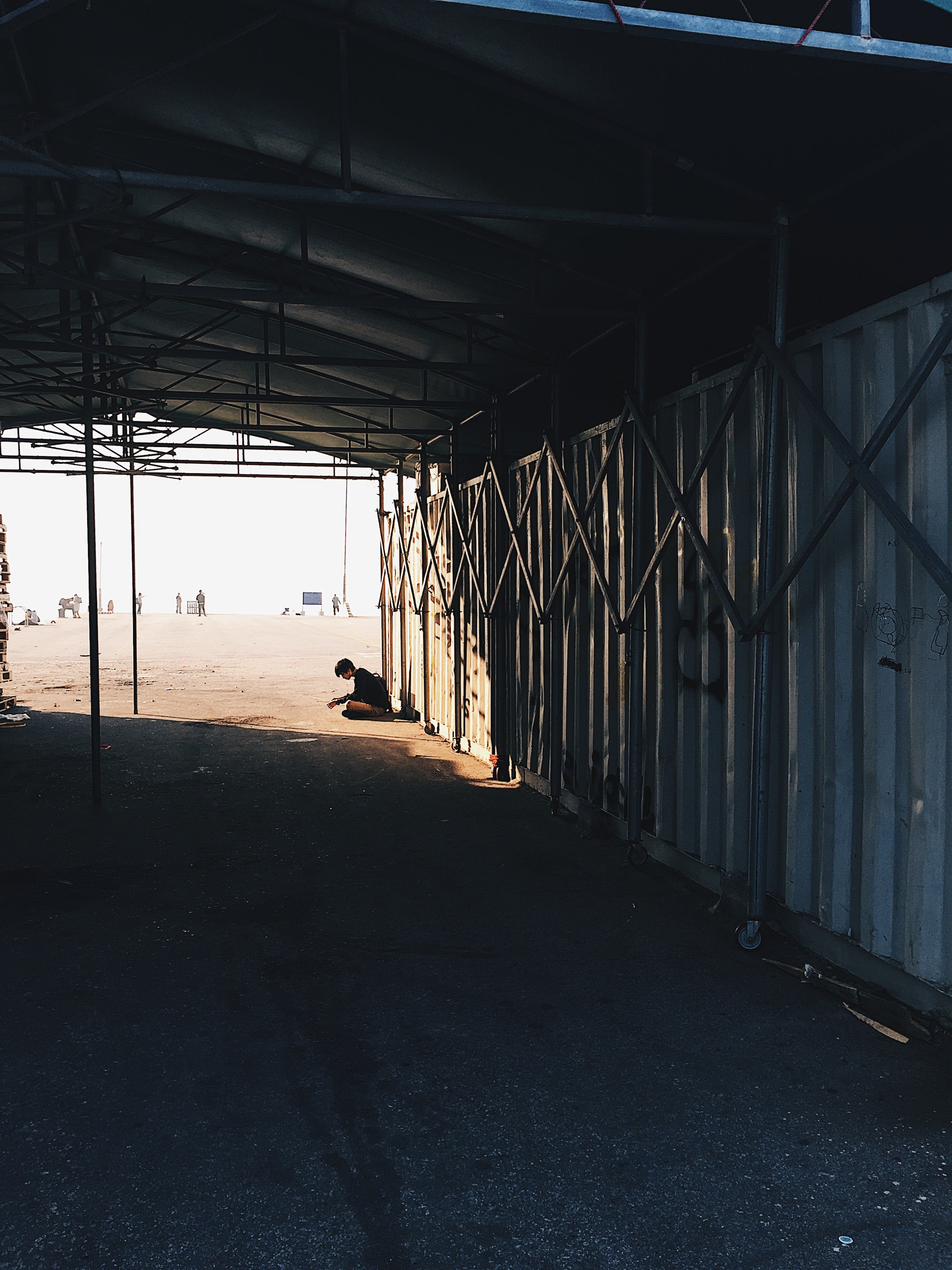 Free stock photo of pier, gate, alone, garage