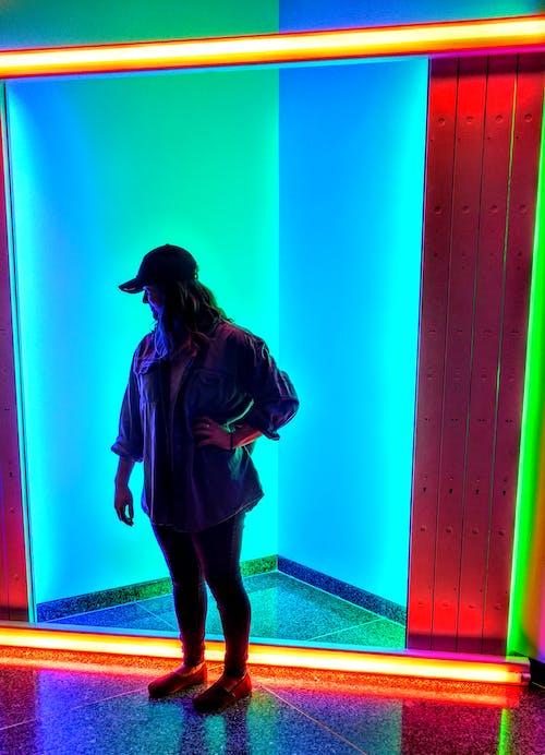Free stock photo of blue, green, neon lights